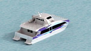 17m Aluminum Catamaran 70 Persons Passenger Ferry Boat for Sale