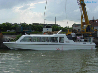 13.8m 26 Persons Fiberglass Passenger Ferry And Crew Boat for Sale