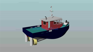 12m 800hp Aluminium Pusher Mini Small Tugboat for sale