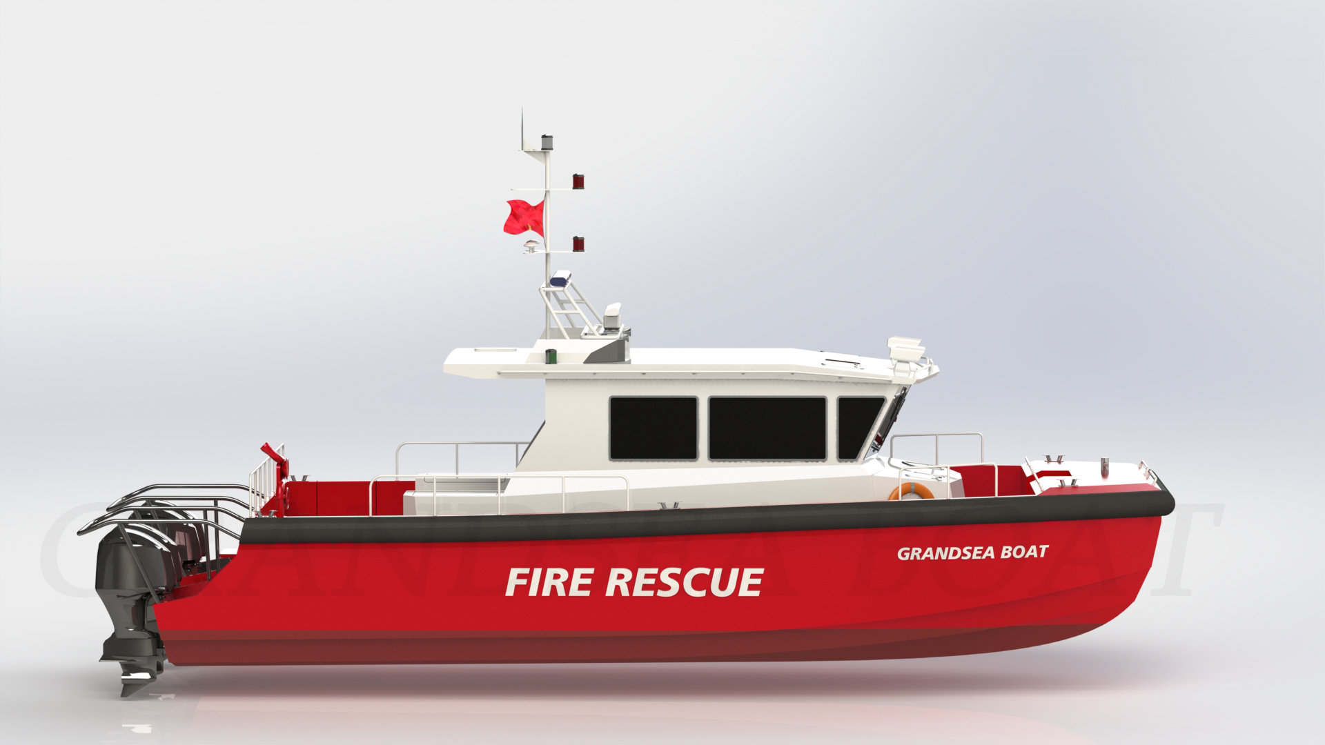 43ft Aluminum Catamaran High Speed Fire Fighting And Rescue Boat for Sale