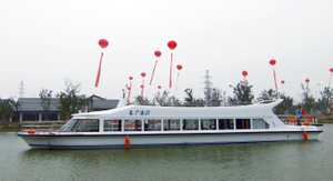 China 25m FRP Day Commercial 120 Passenger Ferry Boat for Sale