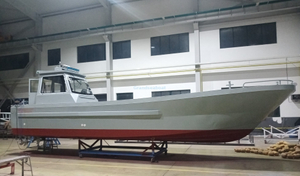 Grandsea 11m Sea Farming Aluminum Work Barge Boat for sale