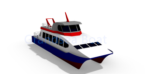 16m Aluminum Catamaran Jet 50 Passenger Ferry Boat For Sale
