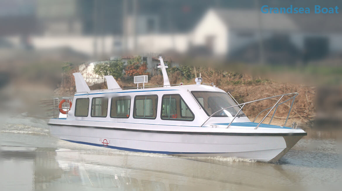 11.6m 30 Persons Fiberglass Speed Passenger Boats with Outboard Engines for Sale