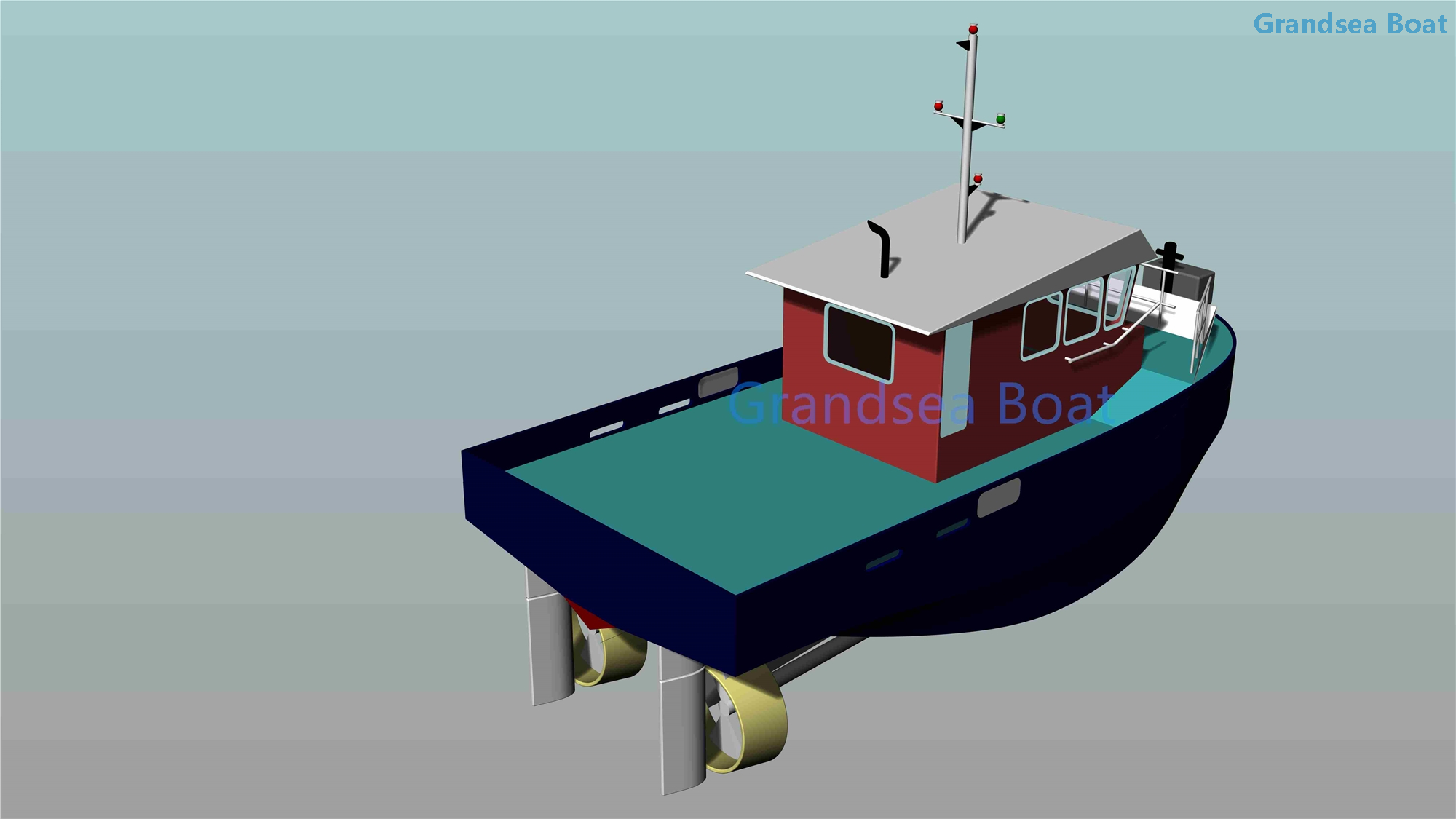 800HP Twin Screw 12m Aluminum Harbour Tug Work And Utility Boat for Sale